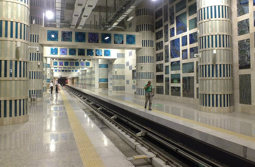 The subway station in Istanbul.