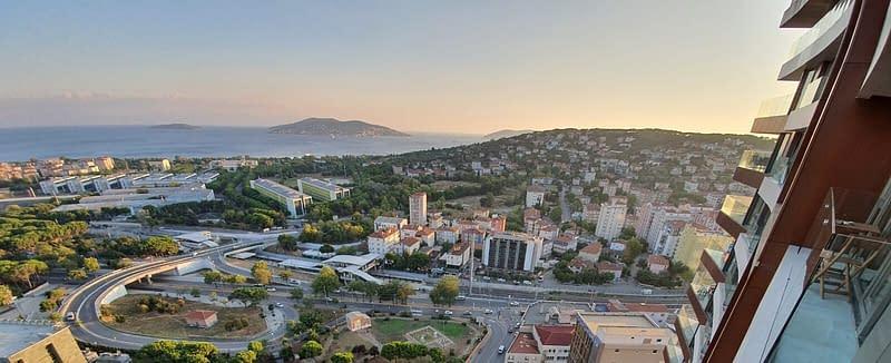 Näkymä 23. kerroksesta Marmaranmerelle, Maltepe, Istanbul