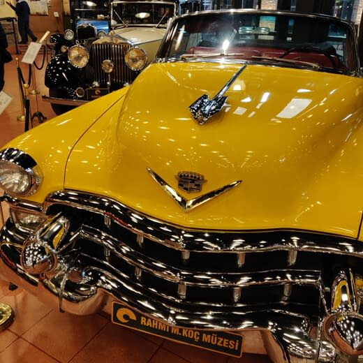 An old car in Koc Museum