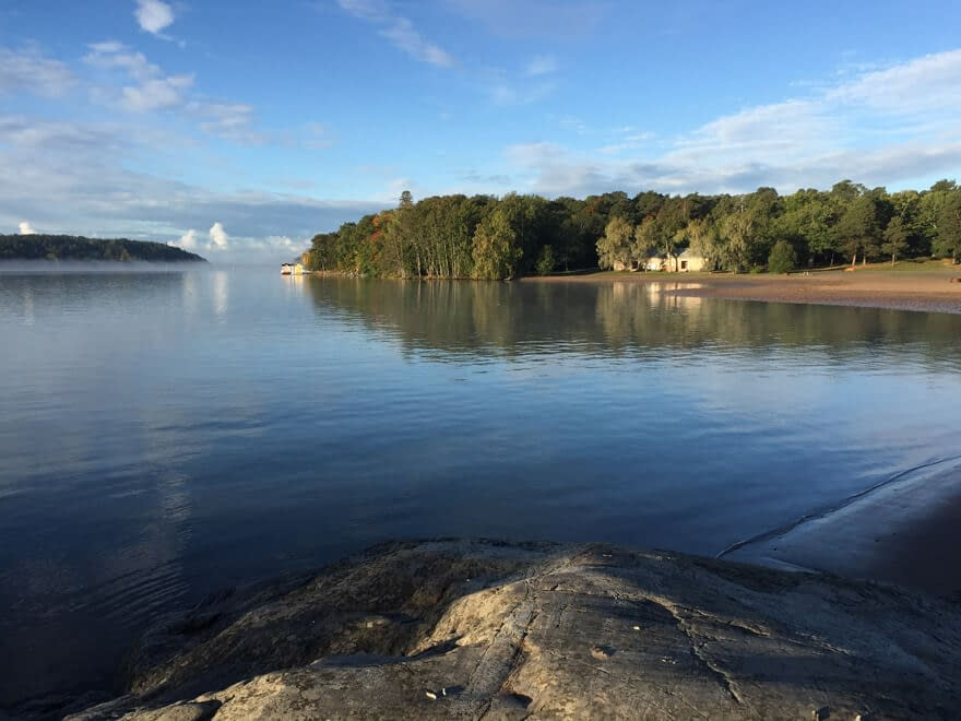 Calm Baltic Sea in Ruissalo Turku